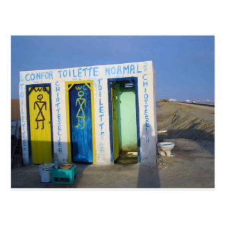 Retrete del borde de la carretera en Túnez Postal
