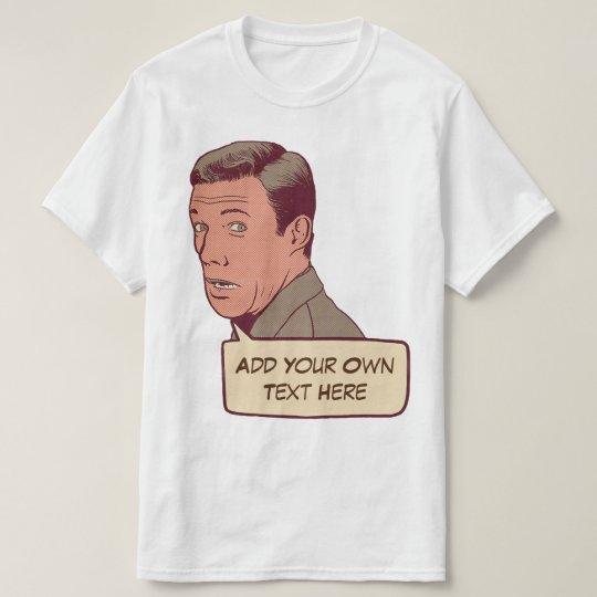 Retro cómico de encargo camiseta