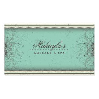 Retro con clase moderno elegante del damasco del e tarjetas de visita