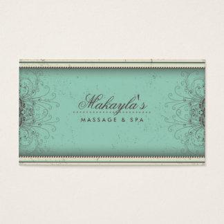 Retro con clase moderno elegante del damasco del tarjeta de negocios