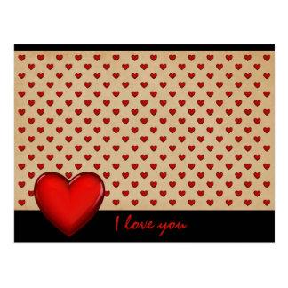 Retro corazón - i love you * postal
