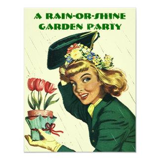 ~ retro de la invitación de la fiesta de jardín