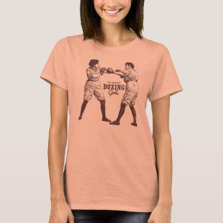 Retro Vintage Kitsch Hipster Boxing Girl Tsh Camiseta