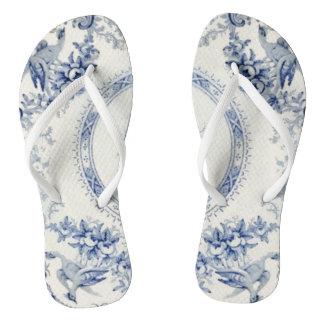 Retroceso azul de Victoria de sus talones Chanclas