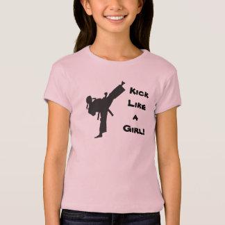 Retroceso como un karate del Taekwondo de los Camiseta
