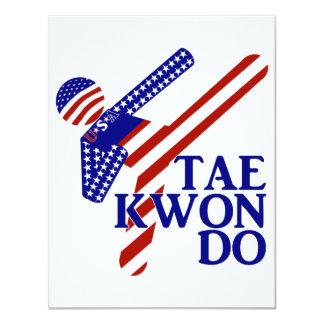 Retroceso de los E.E.U.U. el Taekwondo (2) Invitación 10,8 X 13,9 Cm