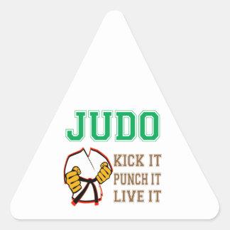 Retroceso del judo lo perfora vive él