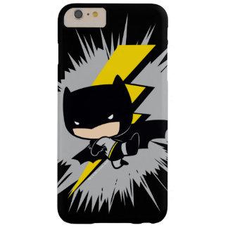 Retroceso del relámpago de Chibi Batman Funda Barely There iPhone 6 Plus