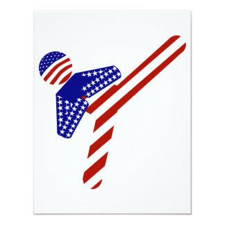 Retroceso Todo-Americano del Taekwondo (1) Invitación 10,8 X 13,9 Cm