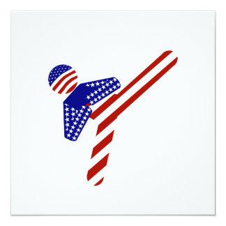 Retroceso Todo-Americano del Taekwondo (1) Invitación 13,3 Cm X 13,3cm