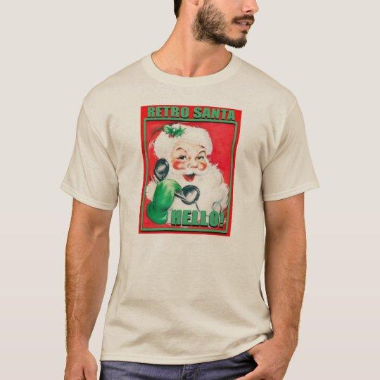 RetroSantaHello-MensHanesNanoTee Camiseta
