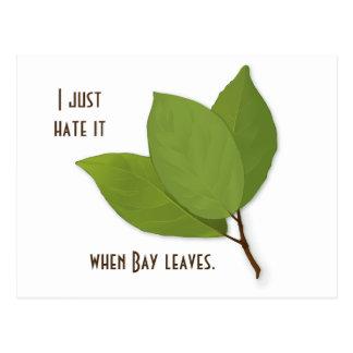 Retruécano de la hierba, lo odio cuando la bahía postal