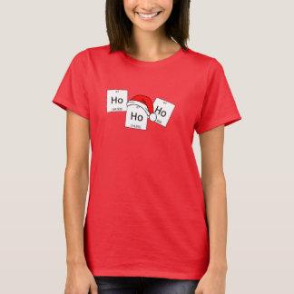 Retruécano del navidad del elemento de la química camiseta