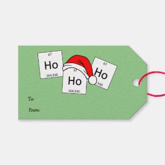 Retruécano del navidad del elemento de la química etiquetas para regalos