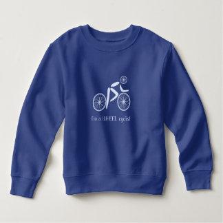 Retruécano divertido del azul del ciclista de la sudadera