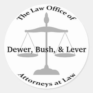 Retruécanos del bufete de abogados pegatina redonda