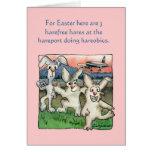 Retruécanos felices de Pascua con las tarjetas div