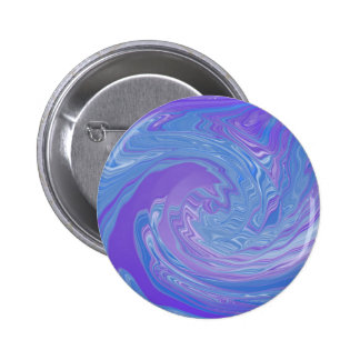 Reuniéndolo arte abstracto a púrpura y azul chapa redonda de 5 cm
