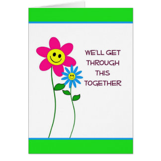 Reunión a través de cáncer tarjeta de felicitación