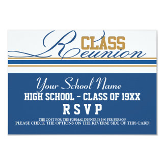 Reunión de antiguos alumnos adaptable RSVP Invitación 8,9 X 12,7 Cm