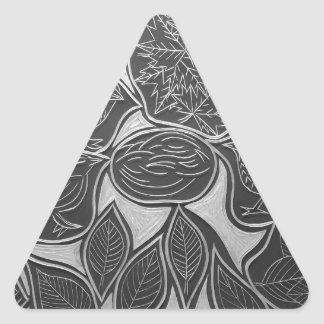 Reunión de Autum Pegatina Triangular