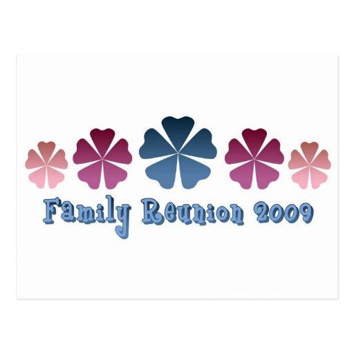 Reunión de familia 2009 tarjeta postal
