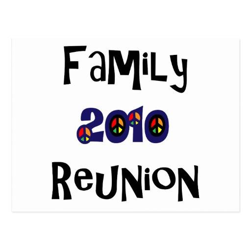 Reunión de familia 2010 tarjeta postal