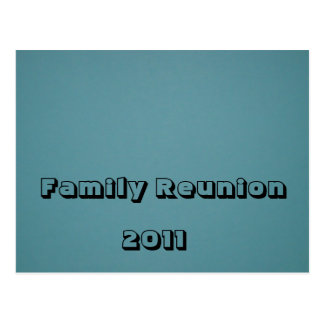 Reunión de familia 2011 tarjetas postales