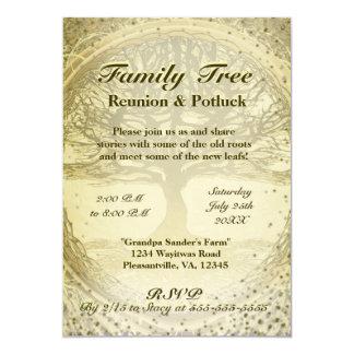 Reunión de familia - árbol de familia del vintage invitación 12,7 x 17,8 cm