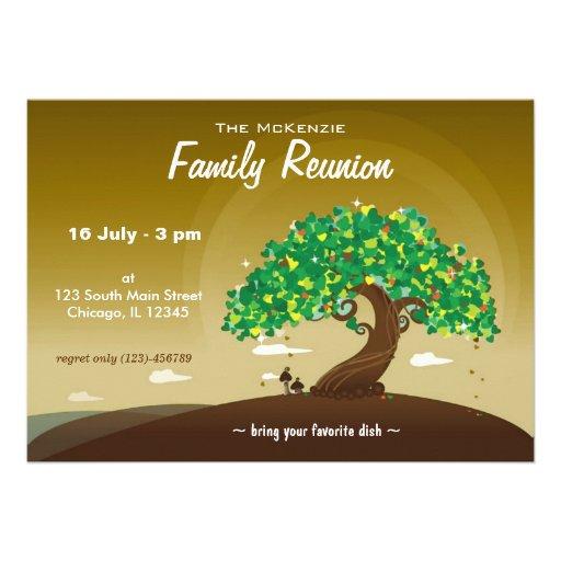 Reunión de familia (Brown) Invitaciones Personalizada