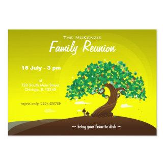 Reunión de familia (cal) invitación 12,7 x 17,8 cm
