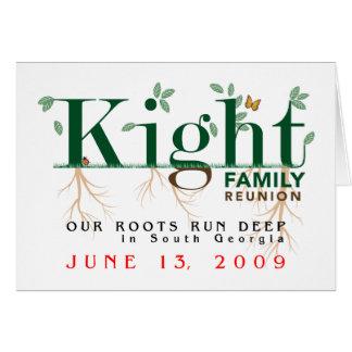 Reunión de familia de Kight 2009 Felicitacion