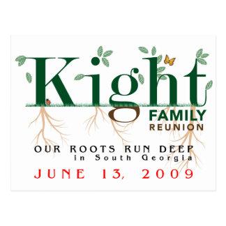 Reunión de familia de Kight 2009 Tarjeta Postal
