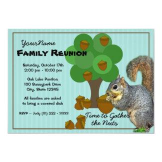 Reunión de familia de la ardilla invitación personalizada