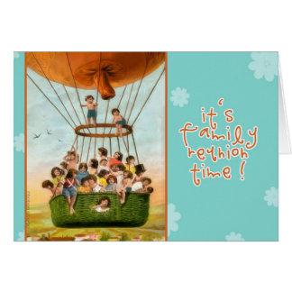 reunión de familia de la invitación, globo del tarjeta de felicitación