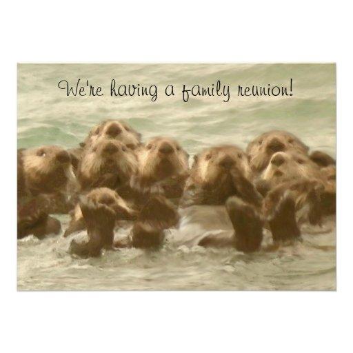 Reunión de familia de la nutria de mar comunicado personalizado