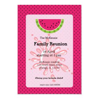 Reunión de familia de la sandía invitación 12,7 x 17,8 cm