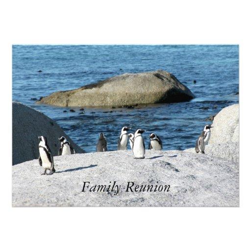 Reunión de familia de los pingüinos invitación