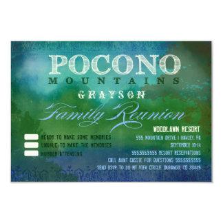 Reunión de familia de POCONOS Invitación 8,9 X 12,7 Cm