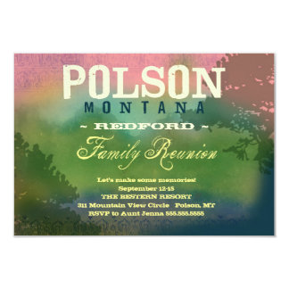 Reunión de familia de POLSON MONTANA Invitación 8,9 X 12,7 Cm