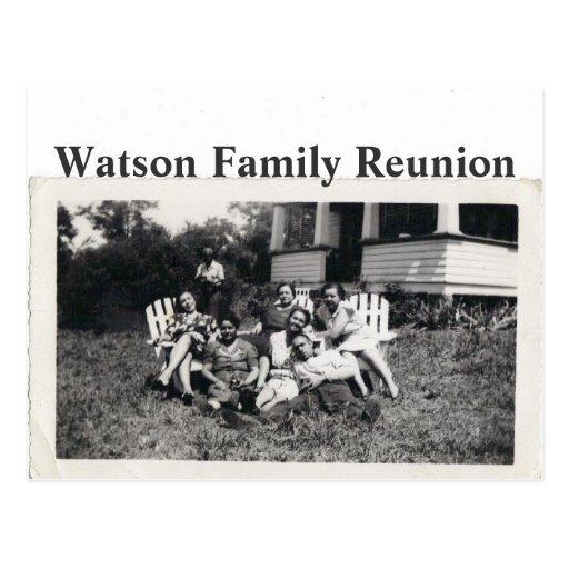 Reunión de familia de Watson Tarjeta Postal