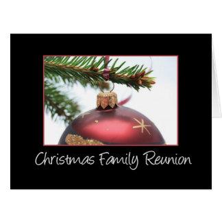 Reunión de familia del navidad tarjeton