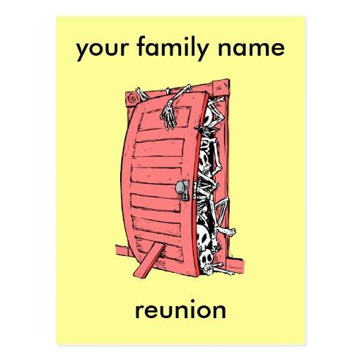 reunión de familia divertida tarjeta postal