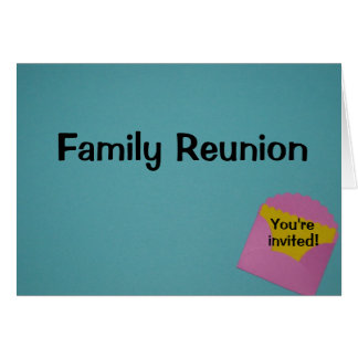 Reunión de familia felicitación
