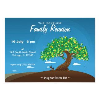 Reunión de familia invitación 12,7 x 17,8 cm