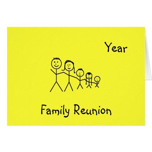 Reunión de familia - invitación felicitacion