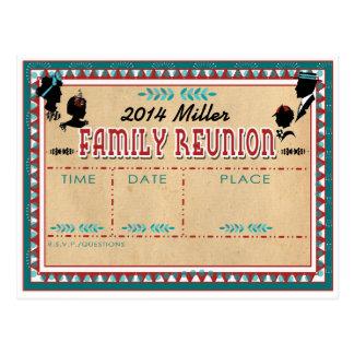 Reunión de familia pasada de moda - postal de la