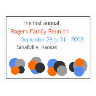 Reunión de familia - personalizable tarjeta postal