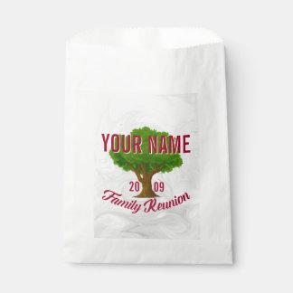 Reunión de familia personalizada árbol animado bolsa de papel