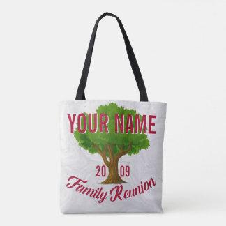 Reunión de familia personalizada árbol animado bolsa de tela